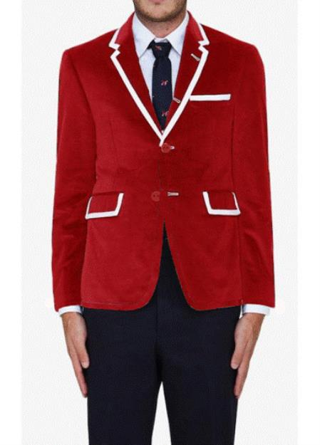 MensUSA.com Red Classic Velvet Blazer(Exchange only policy) at Sears.com