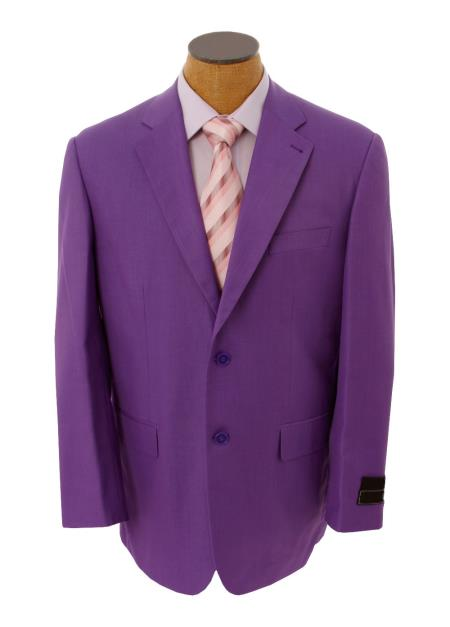 SKU#QDX4 Mens Solid Purple Lavender Blazer