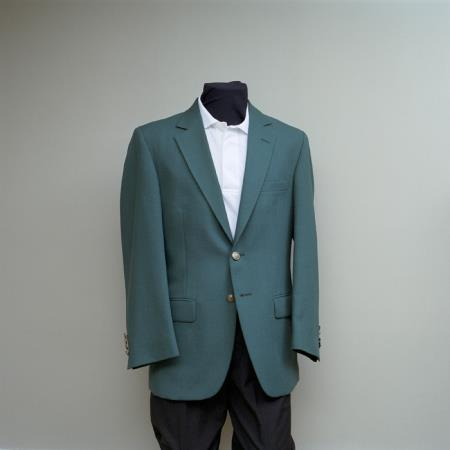 SKU#ADW6 Mens 2 Button Blazer Ivy with brass gold buttons sportcoat $175