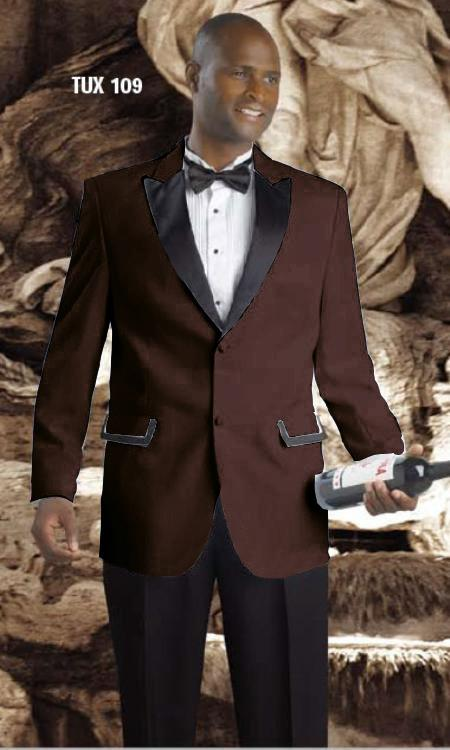 MensUSA.com High Quality 2 Button Tuxedos Brown(Exchange only policy) at Sears.com