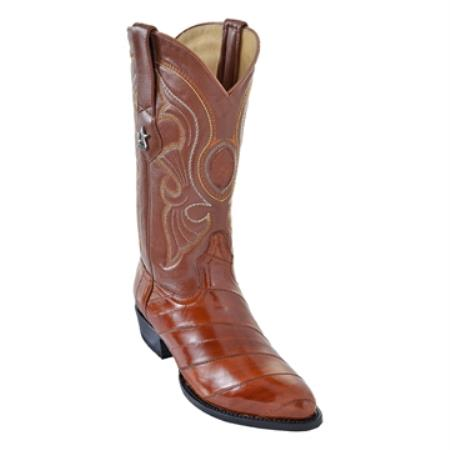 SKU#QDX3 Los Altos Cognac R-Toe Genuine Eel $199