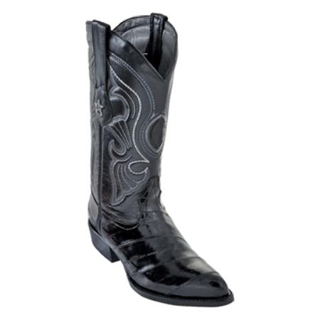 SKU#VVS30 Los Altos Black R-Toe Genuine Eel $199