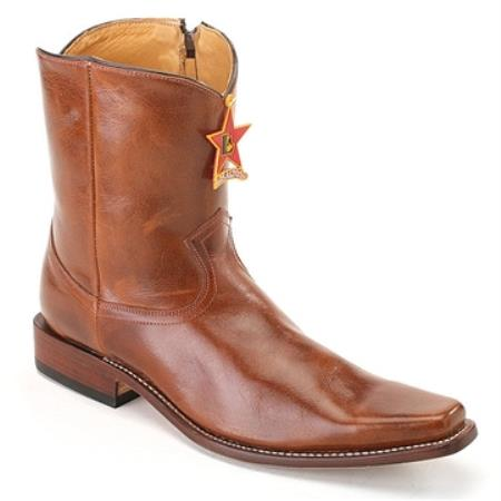 MensUSA.com Los Altos Honey Square Toe Leather Ankle Boot(Exchange only policy) at Sears.com