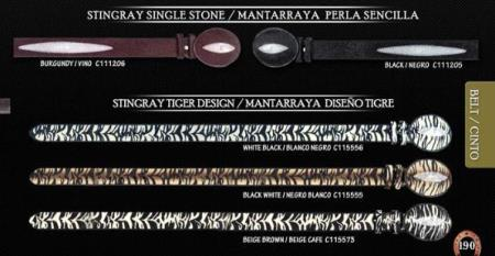 "Exotic Belt 15"" Stingray"