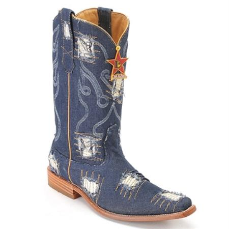 SKU#HQ77 Blue Jean XXX 3X Toe Denim Boot
