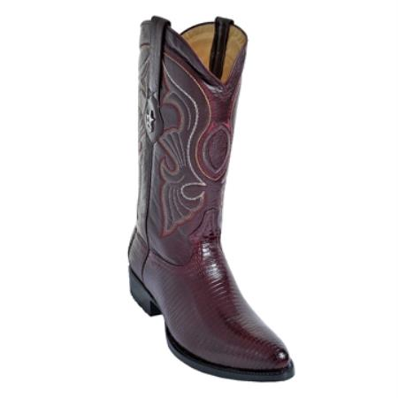 SKU#HR70 Burgundy R-Toe Genuine Ring Lizard $249