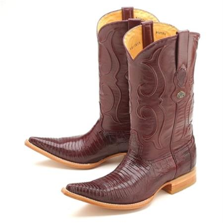 SKU#NG78 Burgundy 3X Toe Genuine Lizard $259