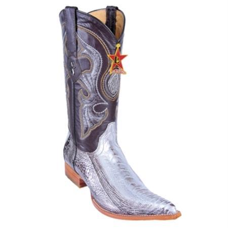 SKU#JK90 Silver Brown XXX 3X Toe Genuine Ostrich Leg