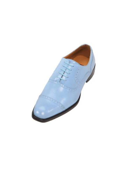 SKU#GHW3 Mens French Blue Oxford Dress Shoes $99