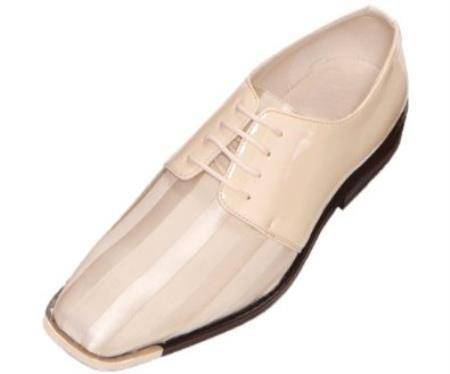 SKU#ZZE3 Mens Ice Dress Oxford Silver Tip Striped Satin $99