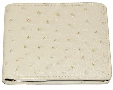 SKU#ENB6 Los Altos Ostrich Wallet Bone $115