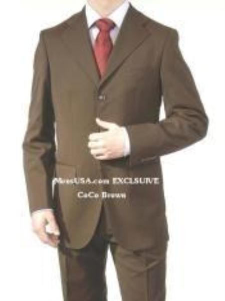 SKU# YDL653 premeier quality italian fabric Design, Mens Dark Brown Suit Super 150s Wool~Cashmere