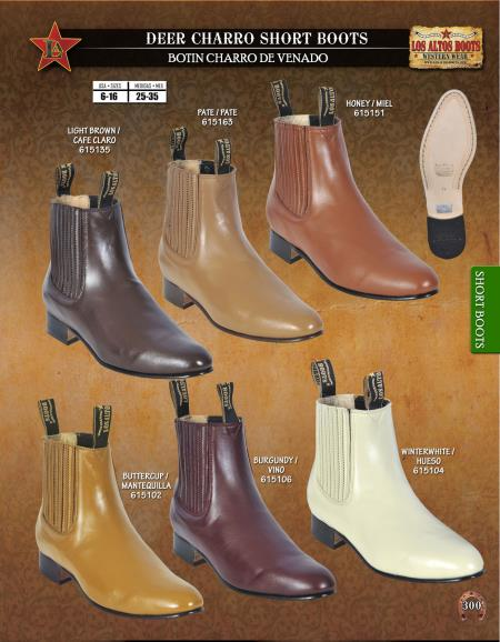 MensUSA.com Los Altos Mens Deer Charro Short Boots Diff Colors Sizes(Exchange only policy) at Sears.com