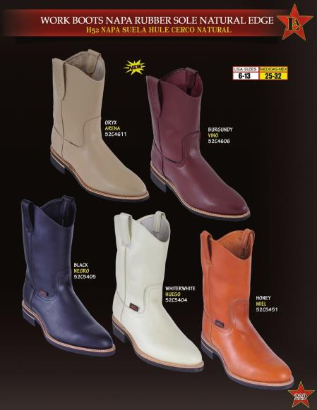 MensUSA.com Los Altos Mens Napa Leather Rubber Sole Natural Edge Cowboy Western Work Boots(Exchange only policy) at Sears.com