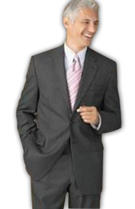 SKU# HJI216 Retail $1295  100% Wool Flat Front No Pleated Pants & 2 Button Brown Suits On Sale $149