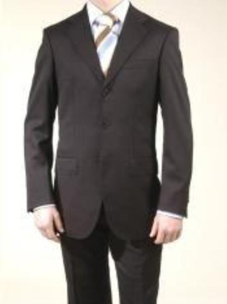 SKU# XDI531 premier quality italian fabric Design, Italian Mens Suit :: Mens Darkest Black Suits S
