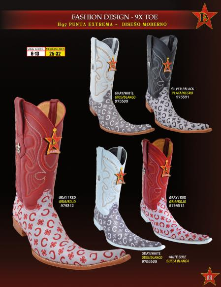MensUSA.com Los Altos Mens 9X Extreme Toe Fashion Design Cowboy Western Boots Diff Colors(Exchange only policy) at Sears.com