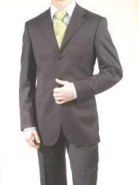 SKU# RB_TS19  premeier quality italian fabric Design Men Charcoal Gray Suit Super 150s Wool 3 Butto