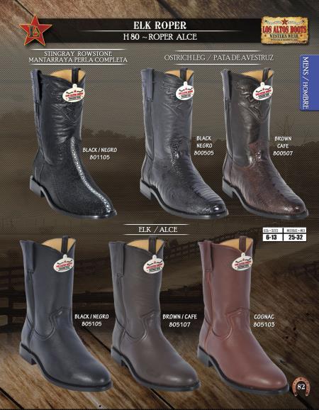 Ostrich Roper Boots
