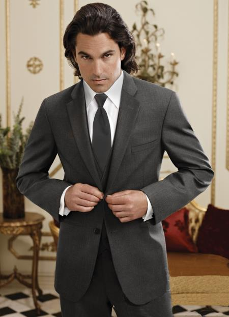 SKU#EZ11 Mens Steel Grey ~ Gray Twilight Suit