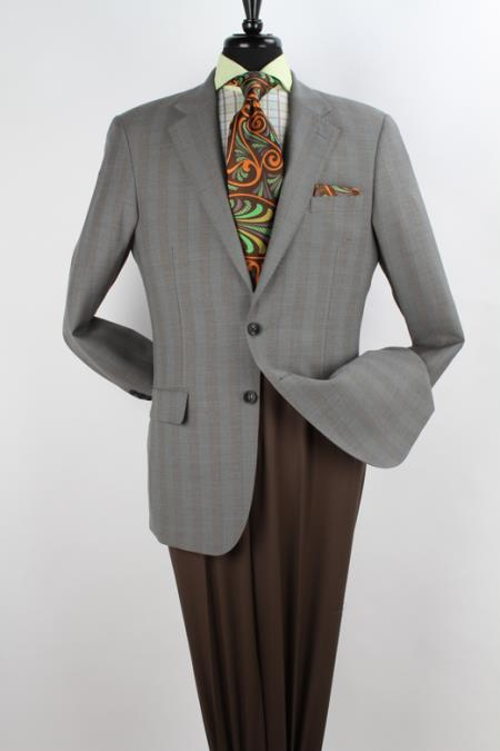 SKU#7BB7 Mens 100% Wool Sport Coat - Notch Lapel Sage $125