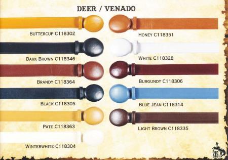 Deer Cowboy Western Belts