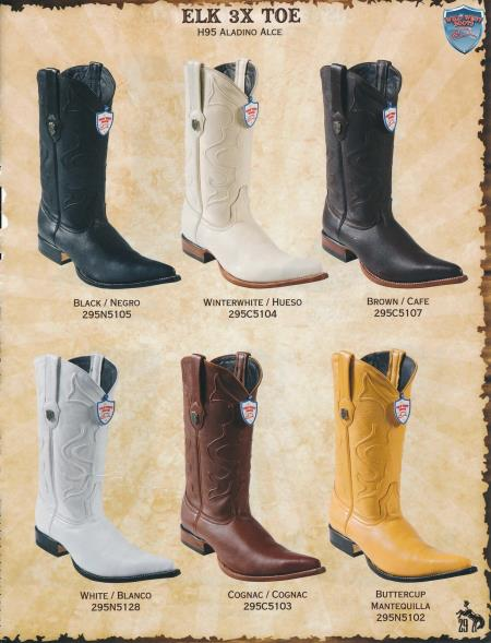 MensUSA.com Toe Genuine Elk Mens Cowboy Western Boots Diff Colors Sizes(Exchange only policy) at Sears.com