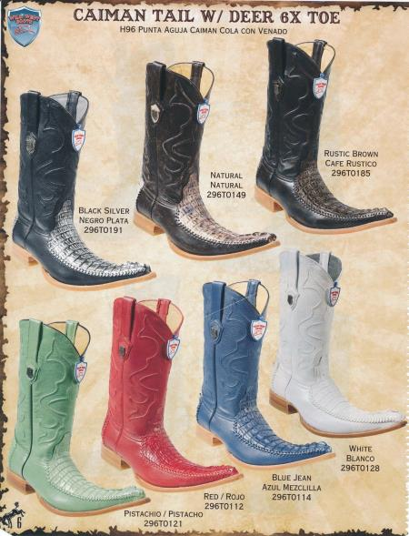SKU#7F9L 6X-Toe Caiman Tail W/ Deer Mens Cowboy Boots Diff.Colors/Sizes $300