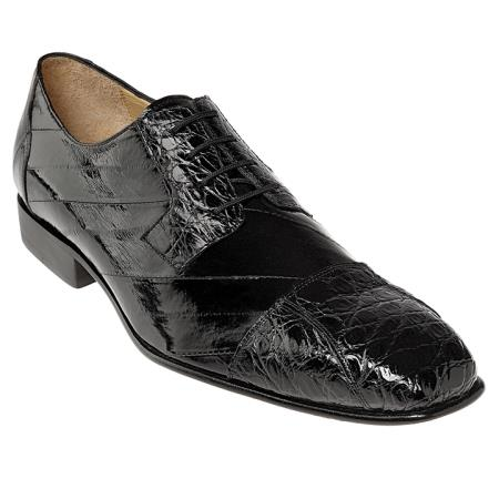 MensUSA Belvedere Black Genuine Caiman and Eel at Sears.com