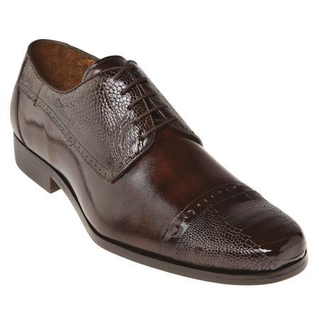 MensUSA Belvedere Mens Ostrich Cap Toe Shoes Brown at Sears.com