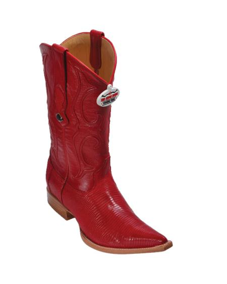 SKU#4VGV Los Altos Red Ring Lizard Cowboy Boots $357