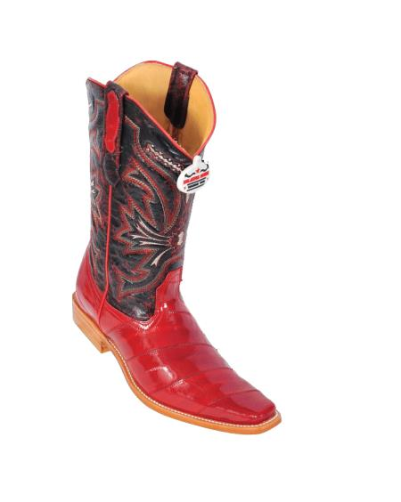 SKU#4N22 Los Altos Red Eel Cowboy Boots $317