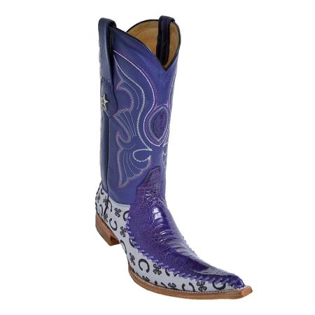 MensUSA.com Purple 6X Toe Genuine Ostrich and Fabric(Exchange only policy) at Sears.com