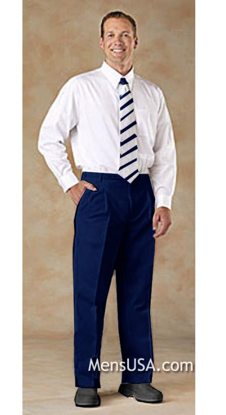 MensUSA.com Mens Pleated Pants Navy Blue(Exchange only policy) at Sears.com