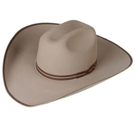 4X Buck Felt Cowboy Hats Tan