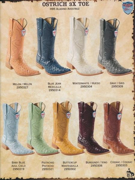 MensUSA.com XXX Toe Genuine Ostrich Mens Cowboy Western Boots Diff Colors Sizes(Exchange only policy) at Sears.com