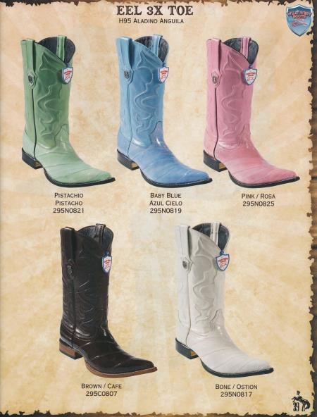 MensUSA.com Wild West XXX Toe Genuine Eel Mens Cowboy Western Boots Diff Colors Sizes(Exchange only policy) at Sears.com