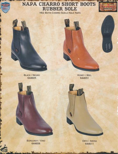 MensUSA.com Mens Napa Charro Short Western Boots w Rubber Sole DiffColors Sizes(Exchange only policy) at Sears.com