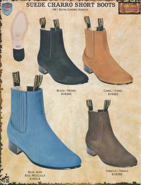 MensUSA.com Mens Genuine Suede Charro Short Cowboy Western Boots DiffColor Sizes(Exchange only policy) at Sears.com