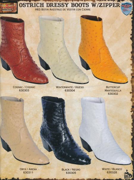 MensUSA.com Genuine Ostrich Mens Western Dressy Boots w Zipper DiffColors Sizes(Exchange only policy) at Sears.com