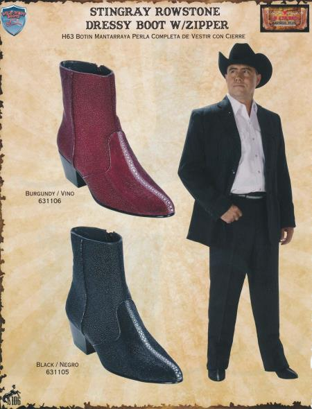 MensUSA.com Genuine Stingray Mens Western Dressy Boots w Zipper DiffColor Sizes(Exchange only policy) at Sears.com