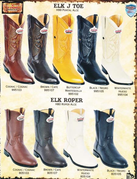 MensUSA.com Toe Roper Genuine Elk Mens Cowboy Western Boots Diff Colors Sizes(Exchange only policy) at Sears.com