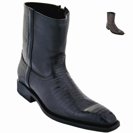 SKU#GU901 Lizard Skin Ankle Boot Black $249
