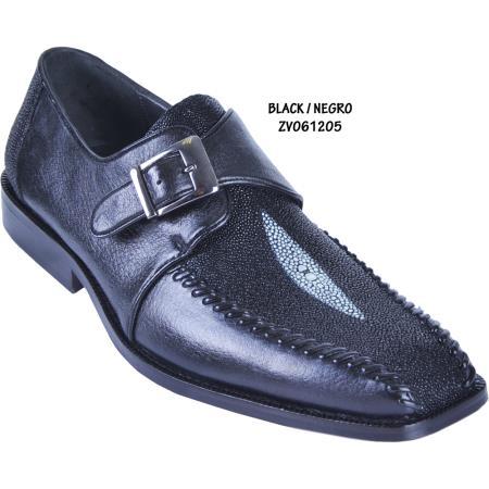 MensUSA.com Exotic Stingray Deer Skin Shoe Dress Shoe Black(Exchange only policy) at Sears.com
