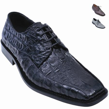 MensUSA.com Exotic Gator Oxford Shoe Black(Exchange only policy) at Sears.com