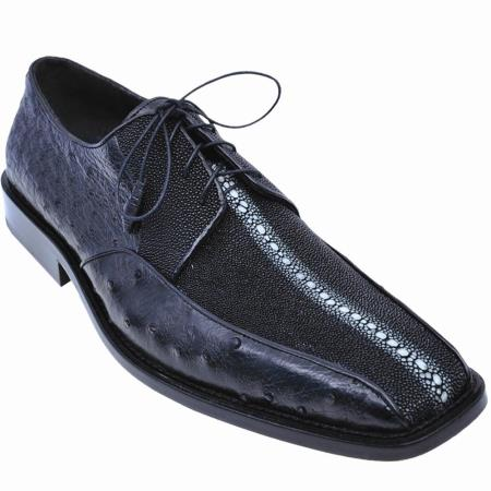and Ostrich Oxford Shoe