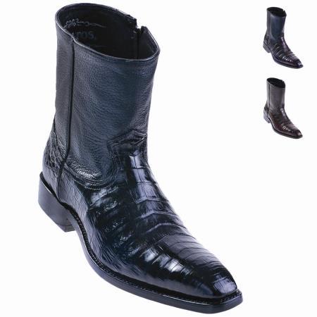 Alligator belly skin boots
