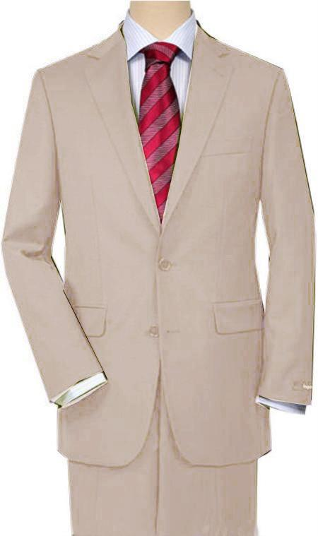 SKU#UI2F Beige Quality Total Comfort Suit Separate Any Size Jacket & Any Size Pants