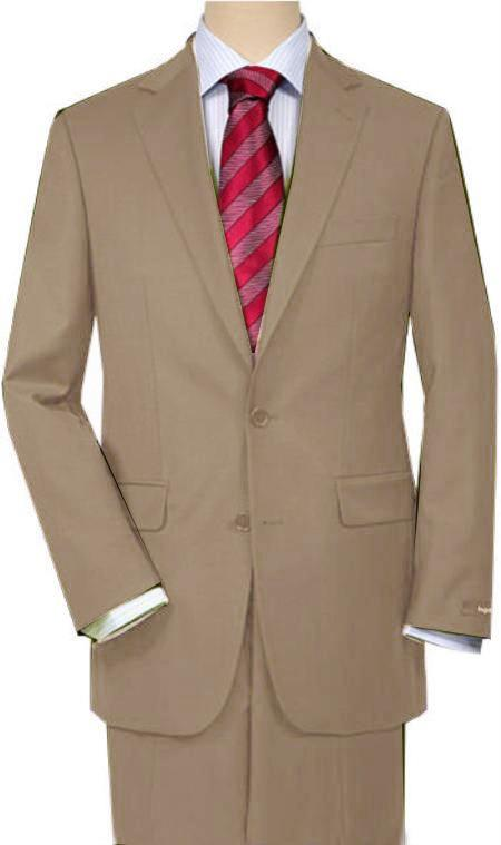 SKU#F3BB Khaki Quality Total Comfort Suit Separate Any Size Jacket & Any Size Pants