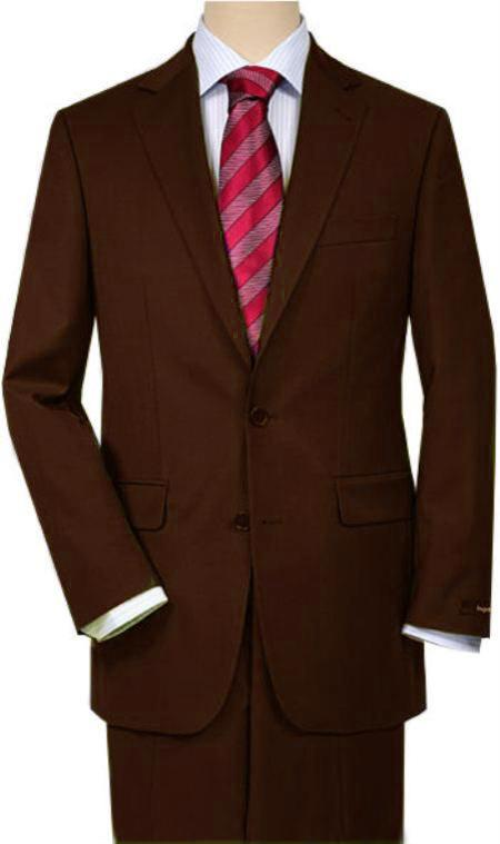 SKU#5SSN Brown Quality Total Comfort Suit Separate Any Size Jacket & Any Size Pants $189